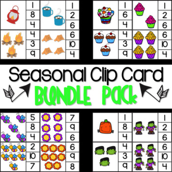 Seasonal Clip Card Bundle Pack!