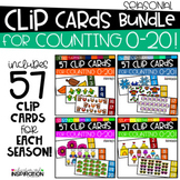 Seasonal Clip Cards for Counting 0-20 GROWING BUNDLE