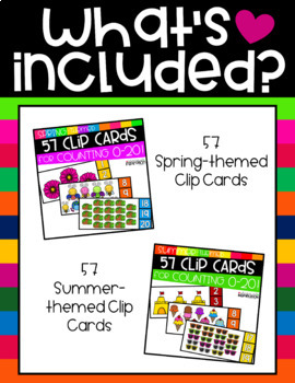 Seasonal Clip Cards for Counting 0-20 Complete Bundle