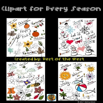 Seasonal Clipart Bundle