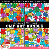 Seasonal Clothes Clip Art Bundle