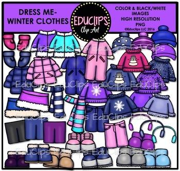 Seasonal Clothes Clip Art Mega Bundle {Educlips Clipart}