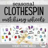 Seasonal Clothespin Matching Wheels