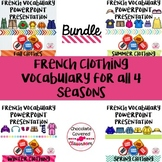 Seasonal Clothing Vocabulary PowerPoint Presentations - The Bundle