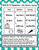 Seasonal Clothing and Spring Graphing & Follow-Up Activities *With Answer Keys!