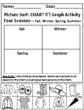 Seasonal Clothing and The Spring Season Graphing Activities *With Answer Keys!