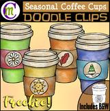 Seasonal Coffee Clipart FREEBIE SAMPLER