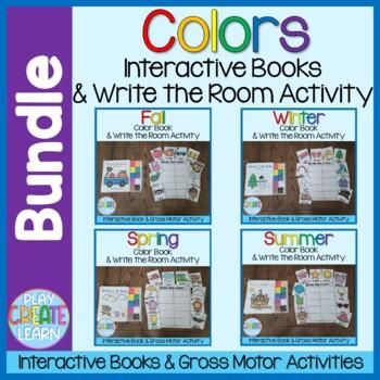 Seasonal Color Books and Write the Room Bundle