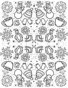 Seasonal Coloring Sheets | eight hand-drawn pdfs by hipsterartteacher