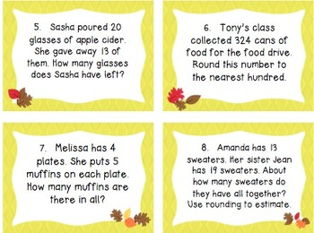 Seasonal Common Core Word Problems Bundle - Grade 3
