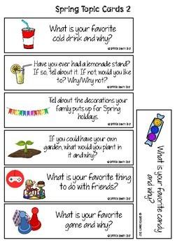 Seasonal Conversation Topic Cards