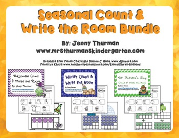 Seasonal Count and Write the Room Bundle