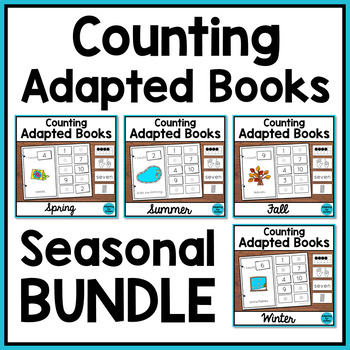 Seasonal Counting Adapted Books for Special Education and Autism BUNDLE