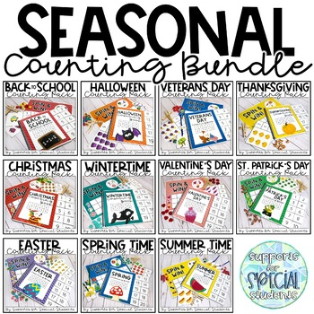 Seasonal Counting Pack Bundle - Activities for Numbers 1-20