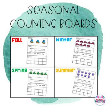 Seasonal Counting Boards Bundle