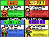 Seasonal Cut and Paste Sentences Bundle