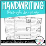 Monthly D'Nealian Handwriting Practice