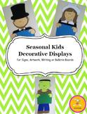 Seasonal Decorative Displays for Writing, Art, Signs, or Bulletin Boards