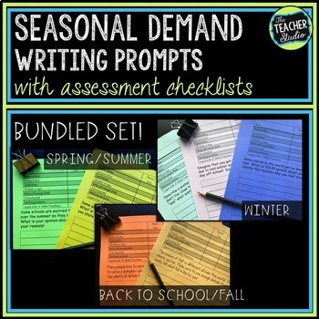 Seasonal Demand Writing Prompt Bundled Set