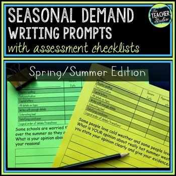 Seasonal Demand Writing Prompt Set:  Spring and Summer!