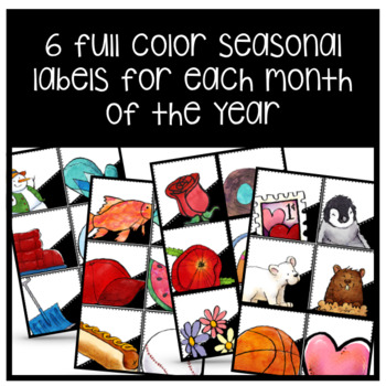 Seasonal Desk Tags (Ready to Print & Editable)