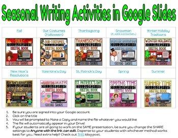 Seasonal Digital Writing in Google Slides™: Collaborative Books