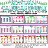 Seasonal Digital Calendar Slides Morning Meeting Distance Learning Bitmoji