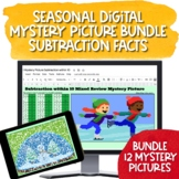 Seasonal Digital Mystery Picture Bundle for Subtraction within 20