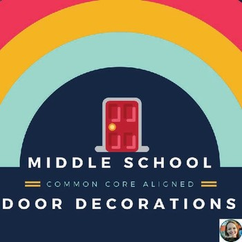 Monthly Door Decorations For Middle School Common Core Aligned!