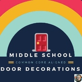 Monthly Door Decorations for Middle School-Common Core Aligned!