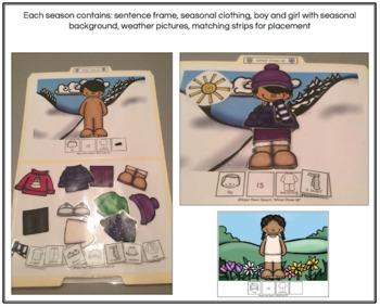 Seasonal Dress Up (File folder activities for functional vocabulary)