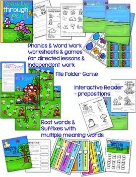 Word Work, Reading, Writing & Crafts - Seasonal ELA Bundle for the School Year