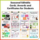 Seasonal Editable Awards, Cards, Certificates Mega Bundle