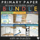 Seasonal Editable Writing Paper Bundle : Print