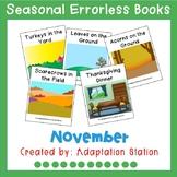 Seasonal Errorless Books: November