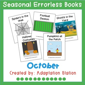 Seasonal Errorless Books: October