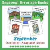 Seasonal Errorless Books: September