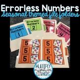 Seasonal Errorless Numbers File Folders