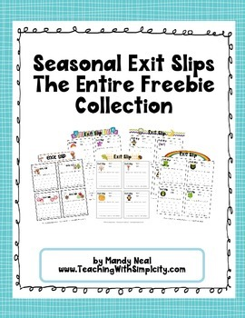 Seasonal Exit Slips - The Entire Collection
