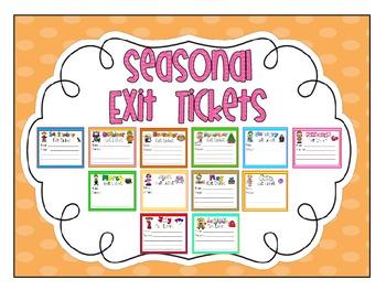 "Seasonal ""Exit Tickets"" freebie!"