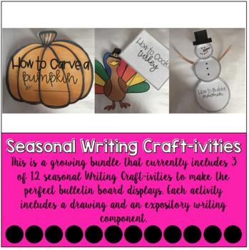 Seasonal Expository Writing Craft-ivities   GROWING BUNDLE