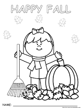 Seasonal Fall Synonym and If...then coloring pictures
