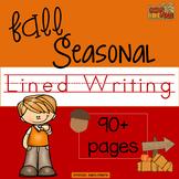 Seasonal Fall Lined Writing Paper