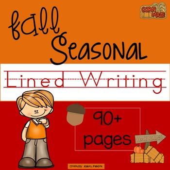 Seasonal Fall Lined Writing Paper