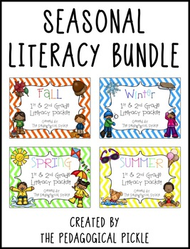 Seasonal First & Second Grade Literacy Bundle