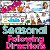 Seasonal Following Directions Bundle | Summer Speech and Language Therapy
