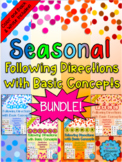 Seasonal Following Directions with Basic Concepts BUNDLE!