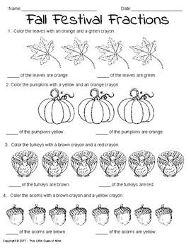Seasonal Fraction Coloring Activities