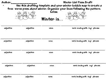 seasonal free verse pattern poem parts of speech by doris young