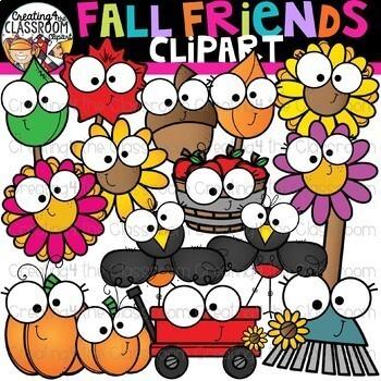 Seasonal Friends Growing Bundle {Seasons Clipart}